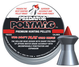 7,62mm JSB Predator Polymag .30 2,9g - 7,62 mm ja 9 mm luodit - 10070110 - 1