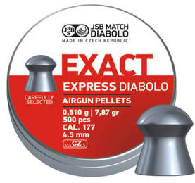 4,52mm JSB Exact Express 0,510g 500kpl - 4,5 mm luodit - 164120 - 1