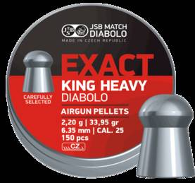 6,35mm JSB Exact King Heavy MKII 2,2g 150kpl - 6,35 mm luodit - 8594180450851 - 1