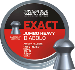 5,52mm JSB Jumbo Exact Heavy 1,175g - 5,5 mm luodit - 26000012 - 1