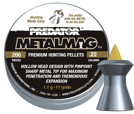 JSB Predator Metalmag 5,5mm ilma-ase luoti - 5,5 mm luodit - 894421600273 - 1