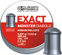 4,52mm JSB EXACT Monster 0,870g - 4,5 mm luodit - 164155 - 1