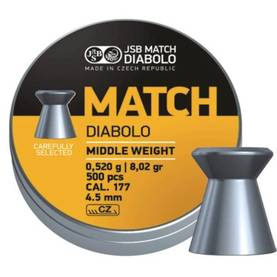 4,52mm JSB Match Rifle (yellow) 0,520g - 4,5 mm luodit - 164185 - 1