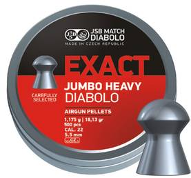 5,52mm JSB Jumbo Exact Heavy 1,175g 500kpl - 5,5 mm luodit - 8594180450615 - 1