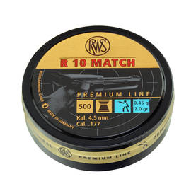 4,49mm RWS R10 Match LP 0,45g 500 kpl - 4,5 mm luodit - 4000294154416 - 1