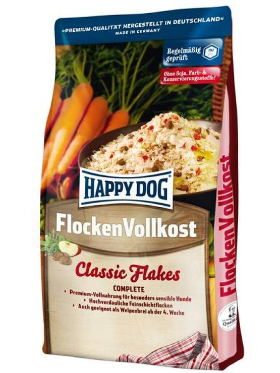 Happy Dog Flocken Vollkost Classic täysravintohiutaleet - Happy Dog koiranruoka - 02166 - 1