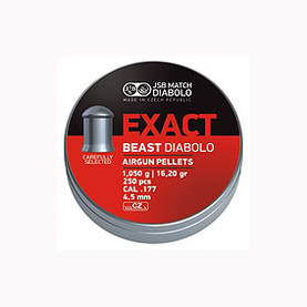 4,52mm JSB EXACT Beast 1.05 g 250 kpl - 4,5 mm luodit - 164157 - 1
