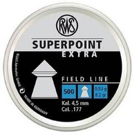 RWS Superpoint Extra 4,5mm 0,53g - 4,5 mm luodit - 4000294136719 - 1