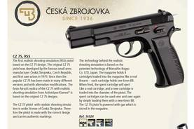 ASG CZ 75 Full Metal kaasu/CO2 -pistooli, blowback - Airsoft pistoolit ja revolverit - 5707843038089 - 3