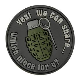 Helikon We Can Share Grenade Patch Harmaa - Asusteet - ODGSHRB19 - 1